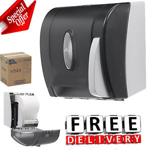 Paper Towel Dispenser Hygienic Push Paddle Roll Bathroom Bath Work Holder Stand