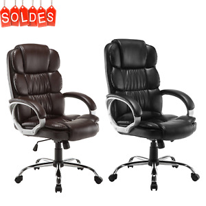 Luxury Executive High Back Pu Office Chair Computer Boss Style Black Brown