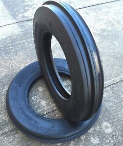 2 new 5 50 16 Tri rib 3 Rib Front Tractor Tire 6 Ply 5 50x16 Tubeless Cropmaster