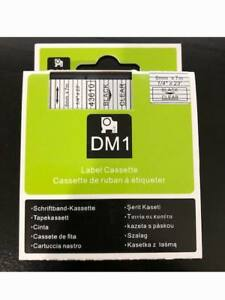 1pk Compatible Black On Clear Dymo D1 43610 S0720530 Labelmanager Label Tape