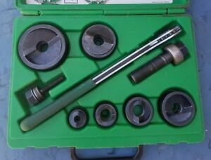 Greenlee 7238sb Slug buster Knockout Punch Set W Wrench Driver 1 2 2