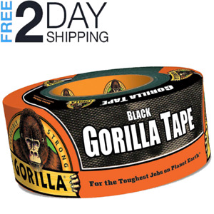 Gorilla Duct Tape 1 88 X 12 Yd Black Tough Roll Waterproof For Repairing Fixing