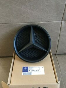 Black Out Mercedes Benz Grille Twisted Star Emblem Badge House C Cla Gla Glk E