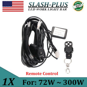 Remote Control Wiring Harness Kit Strobe Switch Relay For Led Light Bar 72w 300w