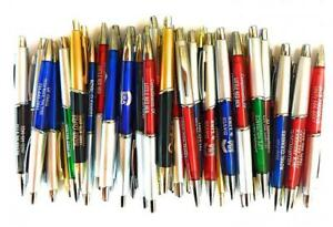 50 Wholesale Lot Misprint Ink Pens Ball Point Plastic Multi color