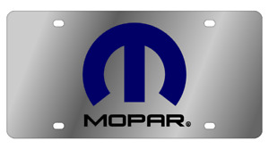 Mopar Mirror Polished 3d Finish Logo Stainless Steel License Plate