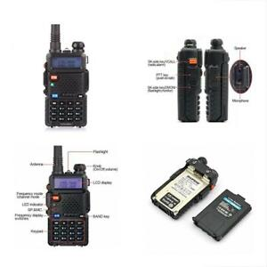 Police Radio Scanner Handheld Fire Transceiver Dual Band Two Way Digital Unit