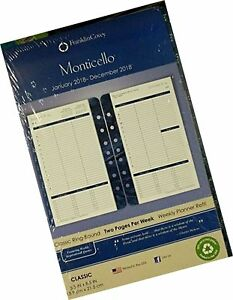 Franklin Covey Classic Monticello Dated Two page Per Week Planner Refill 370