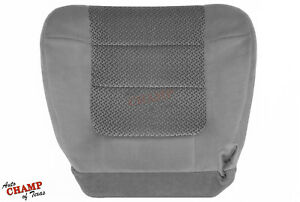 2001 2002 Ford F150 Xlt Super crew cab driver Side Bottom Cloth Seat Cover Gray