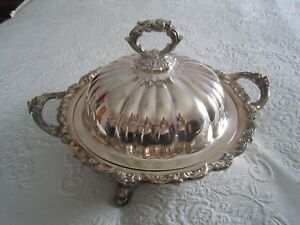 Royal English By Wallace Silverplate 7 Ornate Covered Casserole Dish