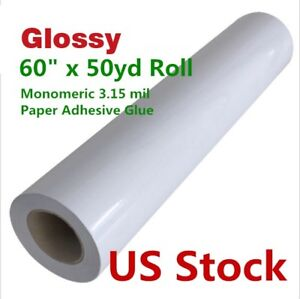 Us Stock 60 X 50 Yard Glossy Monomeric 3 15 Mil Cold Laminating Film