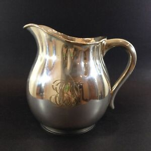Antique Gorham Co Silver Soldered Pitcher Water Silver Plate 1 5 Pounds 0250