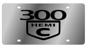 300c Hemi Mirror Polished 3d Finish Logo Stainless Steel License Plate