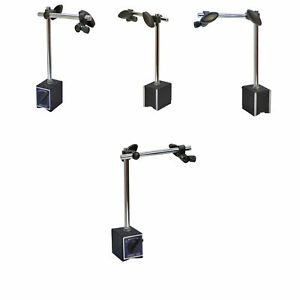 4 Pc Standard Magnetic Base Holder 170 Lbs Cap For Dial Test Indicator Tool