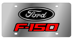 Ford F 150 Badge Mirror Polished 3d Finish Logo Stainless Steel License Plate