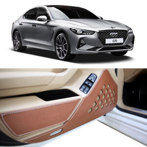 Leather Protect Scratch Door Cover For 2018 2019 Hyundai Genesis G70