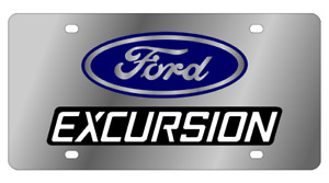 Ford Excursion Mirror Polished 3d Finish Logo Stainless Steel License Plate