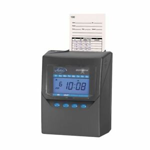 Lathem Time 7500e Calculating Time Recorder Charcoal Gray