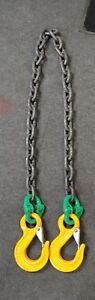5 8 G 80 Alloy Lifting Chain Sling 7 8 Yoke Crosby Campbell 18k Wll Crane Tow