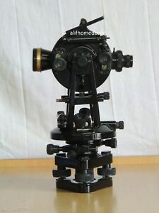 Vernier Transit Theodolite Surveyors Vintage Surveying Instrument 15