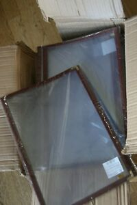 30pc 8 5x14 Menu Cover Trifold 6 View 3 Page Restaurant Cafe Book Clear Burgundy