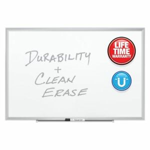 Quartet Magnetic Porcelain Dry erase Board With Aluminum Frame 24 X 36