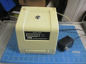 Pyramid Pti 4000 Computerized Payroll Time Clock Tested Working No Key