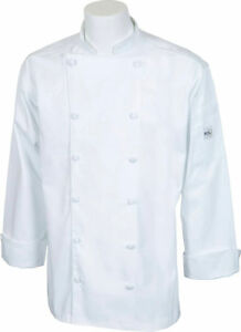 Mercer Renaissance Cutlery Men s Chef Jacket trad Neck White Small