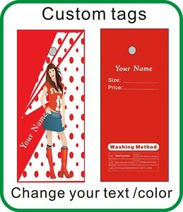 500pcs Red Color Tags Fashion Tags For Clothes Beautiful Lady Tags Custom Tags