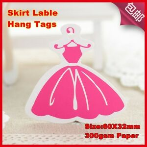 500pcs lady Dress Hang Tags good For Girl Clothes Fee Shipping clothes Tags