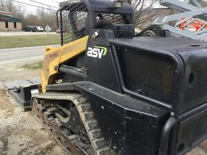 Asv Skid Steer Model Pt100 W 900 Hrs New Tracks Forrestry Pkg Cat perkins Eng