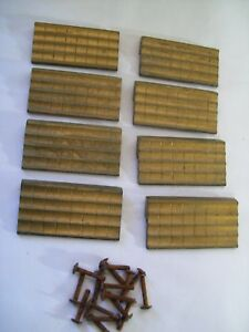 Set Of 8 Mid Century N L Co Brass Drawer Pulls With Screws Made In Usa