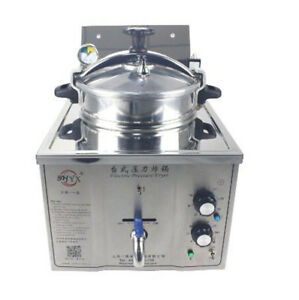 220v Commercial Electric Pressure Fryer 15l Electric Frying Oven 50 200 c