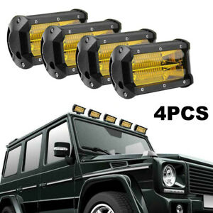 4x 72w 5 Led Car Work Light Bar Spot Beam Driving Lamps Fog Roof Offoad Suv Atv
