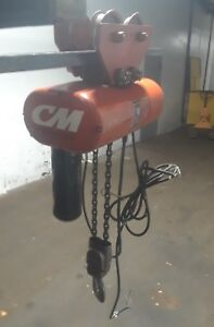 Cm Hoist Model R2 2 Ton Electric Chain Hoist With Trolley Series 635
