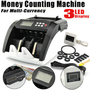 Bill Money Cash Counter Bank Machine Count Currency Uv Counterfeit Automatic Usa