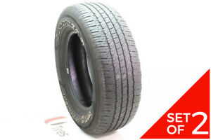 Set Of 2 Used 275 65r18 Goodyear Wrangler Fortitude Ht 116t 6 6 5 32