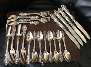 Antique Reed Barton King Francis Silver Plate Silverplate Flatware 20 Pieces