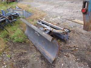 Thomas 66 Skid Steer Snow Blade Plow Nice Hydraulic Angle Bobcat Quick Tach