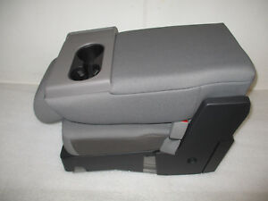 2019 Ford F150 Center Jump Seat Console Gray Cloth Oem New Nice