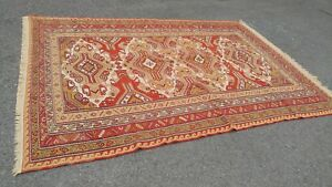 Large Persian Tribal Area Rug 9 5 X 6 5 Hand Made Excellent Details