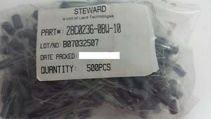 500 Pcs Of Steward Laird 28c0236 0bw 10 Ferrite Bead 835 Ohm Axial 1ln