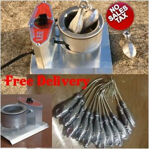 Electric Lead Melting Pot Metal Melter Furnace Casting Molds Spout hunting gear