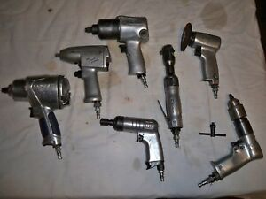 Lot Of 7 Air Impact Tools used