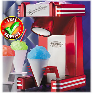 Snow Cone Maker Single Home Stainless Steel Blades Commercial Ice Cube Machine