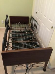 Semi electrical Hospital Bed With Rails Mdr107002e Used By Medline