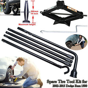Premium Spare Tire Lift Tool With Scissor Jack For Dodge Ram 1500 Kit Lug Wrench