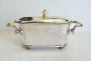 Unusual Antique English Silver Plated Spoon Warmer C 1900