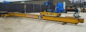 10 Ton X 36 Span Kone Top Running Single Girder Bridge Crane Hoist Not Included