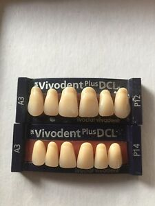 Ivoclar Vivadent Plus Dcl 2 Cards Of Teeth A3 For Dental Lab Materials